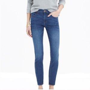 Madewell Skinny Ankle High Riser dark wash Jeans